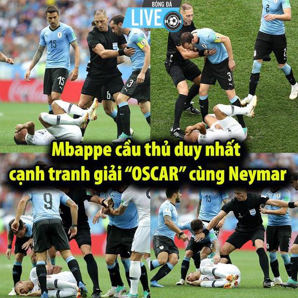 Thủ môn Uruguay, thiên tài Mbappe thành trò đùa của cư dân mạng - Ảnh 7.