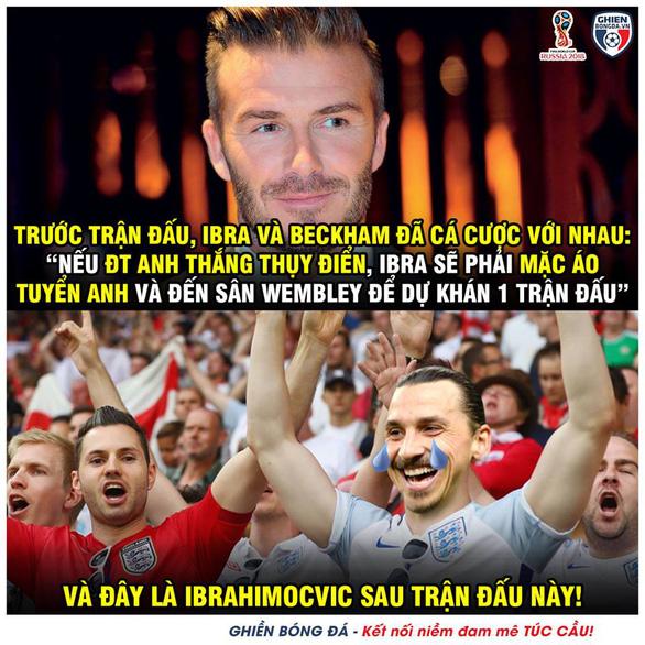 Anh thắng, dân mạng chờ Ibrahimovic mặc áo Tam sư đến Wembley - Ảnh 1.