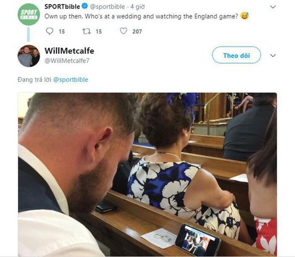 Ghiền World Cup, fan lén xem Anh đá với Thụy Điển bất chấp đám cưới - Ảnh 4.