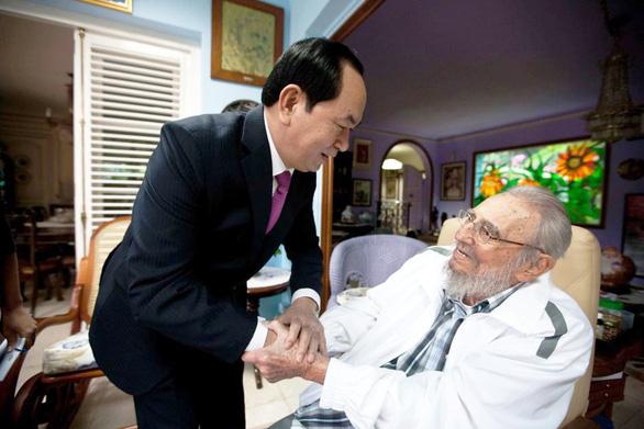 Cuộc gặp cuối cùng Chủ tịch nước Trần Đại Quang với Fidel Castro - Ảnh 1.