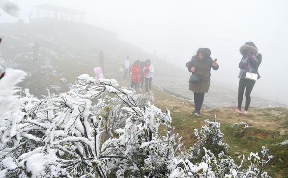 Hà Nội rét dưới 10 độ C, Mẫu Sơn băng giá phủ trắng - Ảnh 3.