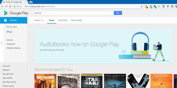 Google bán sách nói trên Android, iOS và Google Home - Ảnh 1.