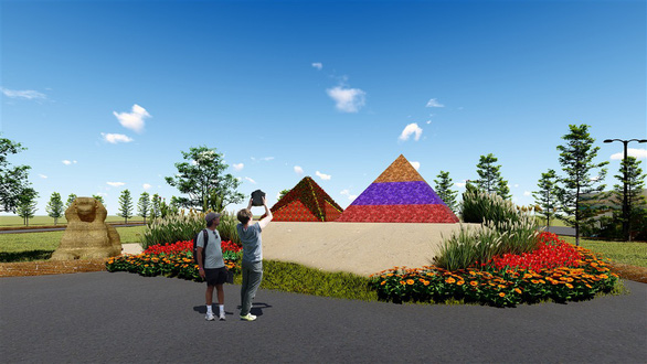 7 kỳ quan thế giới bằng hoa tươi tại Sun World Halong Complex - Ảnh 3.