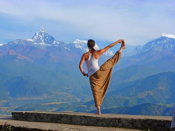 Đến Sarangkot ngắm bình minh trên dãy Himalaya - Ảnh 2.