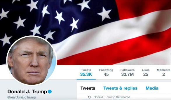 Những điều bất ngờ từ một năm Twitter của ông Trump - Ảnh 1.
