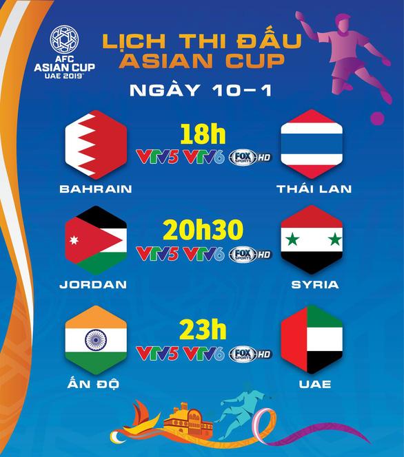 Lịch trực tiếp Asian Cup 2019: Thái Lan đối diện cửa tử - Ảnh 1.