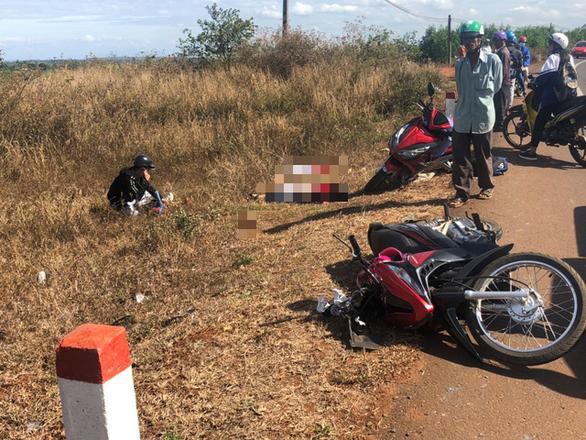 Đụng xe tải bị sự cố, 3 người đi xe máy thiệt mạng - Ảnh 1.