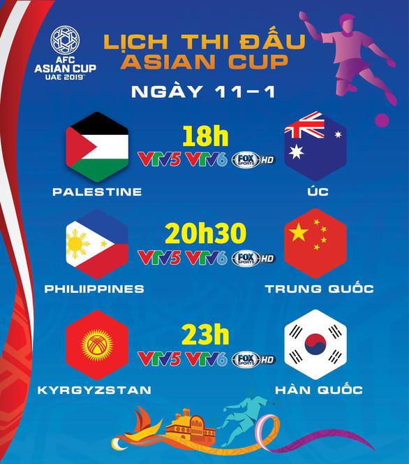 Lịch trực tiếp Asian Cup 2019 ngày 11-1 - Ảnh 1.