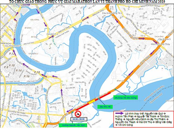 Cấm xe máy qua cầu Phú Mỹ ngày 13-1 - Ảnh 1.