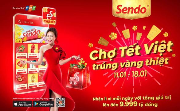 Nhộn nhịp phiên chợ Tết online Sendo - Ảnh 3.