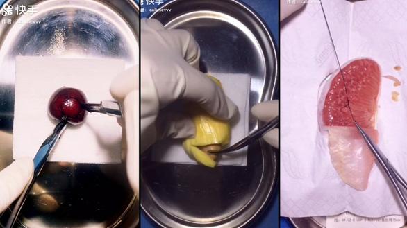 Đốn tim cư dân mạng với các video phẫu thuật trái cây - Ảnh 1.