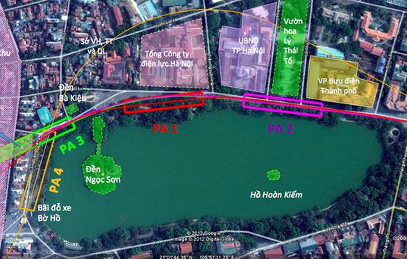 Hà Nội mong các cơ quan ủng hộ xây ga ngầm bên Hồ Gươm - Ảnh 1.
