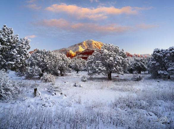 Ngắm hai thái cực của mẹ thiên nhiên: tuyết rơi sa mạc - Ảnh 4.