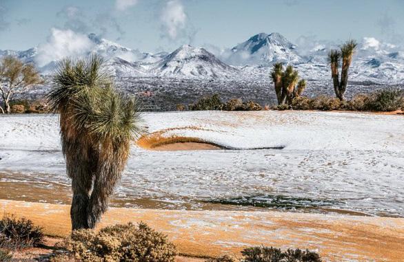 Ngắm hai thái cực của mẹ thiên nhiên: tuyết rơi sa mạc - Ảnh 1.