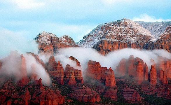 Ngắm hai thái cực của mẹ thiên nhiên: tuyết rơi sa mạc - Ảnh 7.