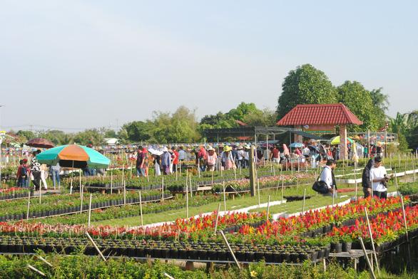 Hàng chục ngàn du khách đổ bộ, làng hoa Sa Đéc ùn tắc - Ảnh 4.