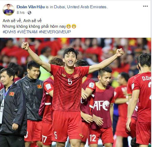 Cầu thủ Việt Nam trải lòng trên Facebook sau chiến thắng trước Jordan - Ảnh 3.