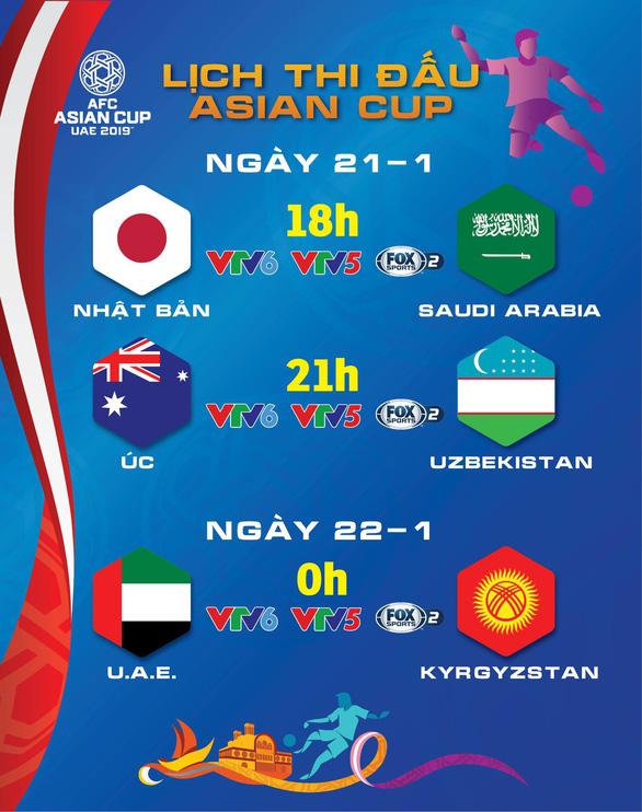 Lịch thi đấu Asian Cup ngày 21-1: Xác định đối thủ của Việt Nam ở tứ kết - Ảnh 1.