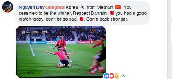 CĐV Việt áp đảo lời chúc mừng tuyển Hàn Quốc - Ảnh 1.