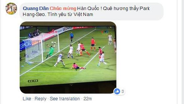 CĐV Việt áp đảo lời chúc mừng tuyển Hàn Quốc - Ảnh 3.