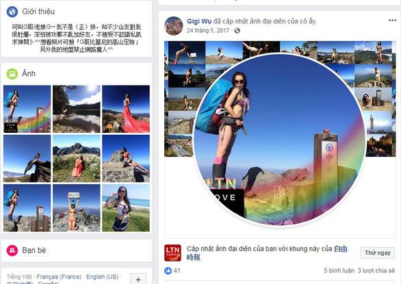 Ngã xuống vực sâu, 'nhà leo núi bikini' Đài Loan tử nạn - Ảnh 1.