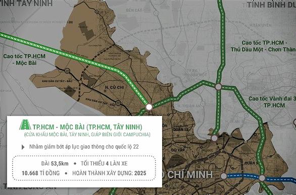 10.668 tỉ đồng xây cao tốc TP.HCM - Mộc Bài - Ảnh 1.