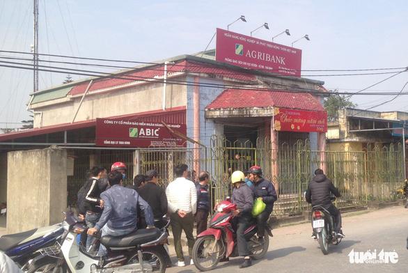 8 người bị thương trong vụ cướp ngân hàng tại Thái Bình - Ảnh 1.