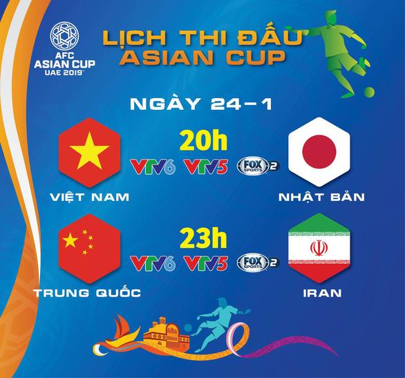 Lịch thi đấu Asian Cup 2019: Việt Nam đấu Nhật Bản - Ảnh 1.