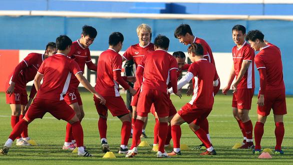 Các tuyển thủ Việt Nam sẵn sàng đương đầu với khó khăn - Ảnh: N.K.