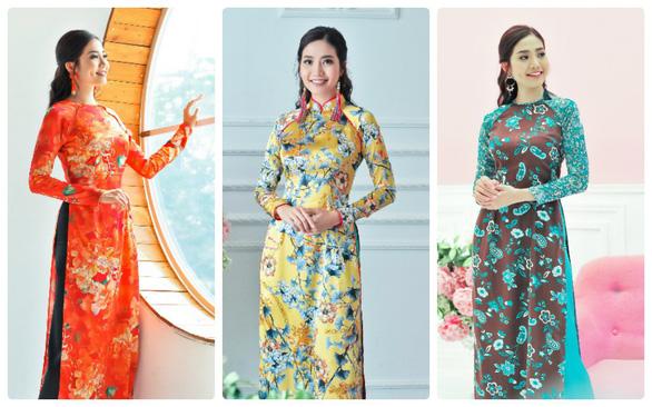 Du xuân cùng áo dài từ lụa Vanya - Ấn Độ - Ảnh 1.