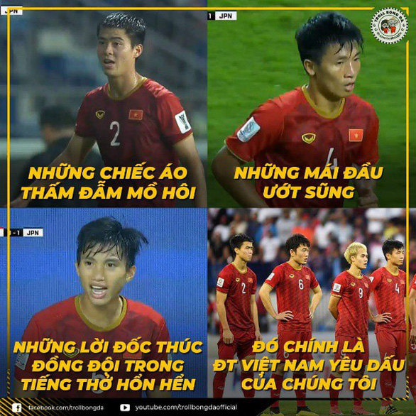 Ảnh chế tuyển Việt Nam máu lửa hot trên mạng xã hội - Ảnh 1.
