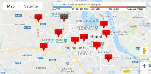 Ô nhiễm không khí ở Hà Nội từ xấu đến nguy hại - Ảnh 1.