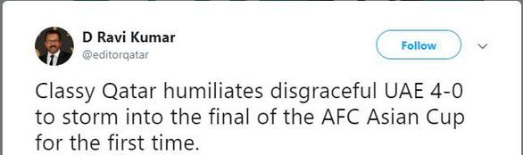 Chơi xấu và thua trận trước Qatar, UAE bị cộng đồng mạng công kích - Ảnh 2.