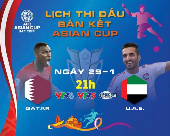 Lịch truyền hình Asian Cup ngày 29-1: chủ nhà UAE quyết chiến Qatar - Ảnh 1.