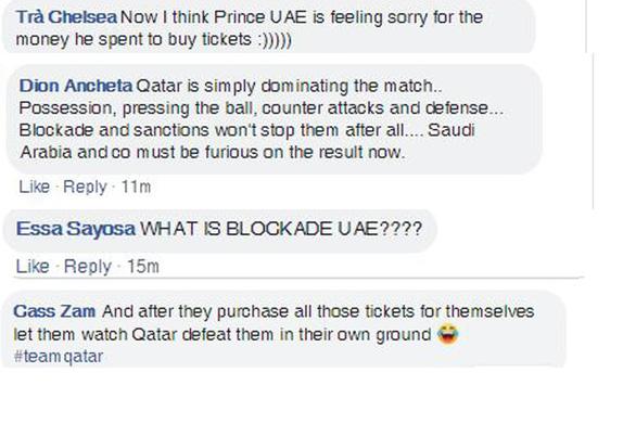 Chơi xấu và thua trận trước Qatar, UAE bị cộng đồng mạng công kích - Ảnh 6.