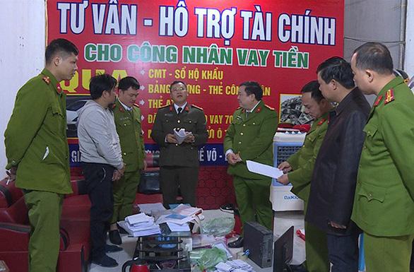 Triệt phá 15 điểm tín dụng đen cho vay lãi cắt cổ tại Bắc Ninh - Ảnh 1.