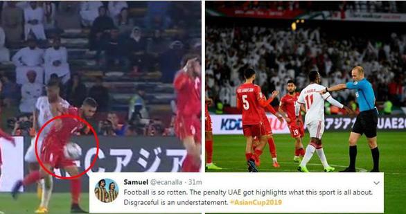 Dân mạng phản ứng pha thổi phạt đền khó hiểu trong trận mở màn Asian Cup 2019 - Ảnh 1.