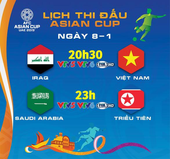 Lịch thi đấu Asian Cup ngày 8-1: tuyển Việt Nam xuất trận - Ảnh 1.