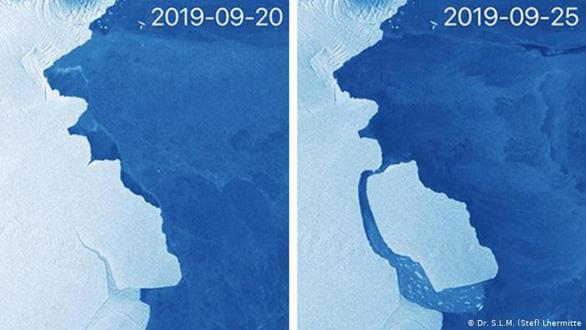 Băng to gấp đôi Singapore tách khỏi Nam Cực - Ảnh 1.