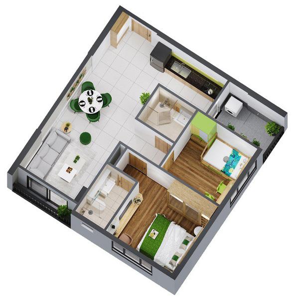 Đa dạng hóa diện tích căn hộ tại dự án Picity High Park - Ảnh 3.