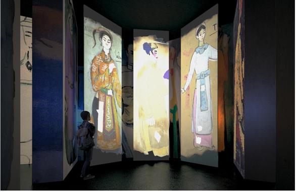 Triển lãm tranh Bùi Xuân Phái sử dụng công nghệ đa phương tiện - Ảnh 4.