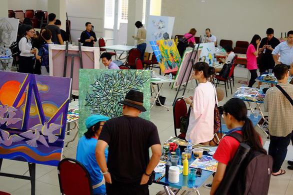Triển lãm và workshop mỹ thuật quốc tế Hà Nội một kết nối nghệ thuật - Ảnh 1.