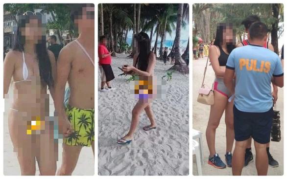 Phạt tiền nữ du khách Đài Loan mặc bikini chẳng khác gì sợi dây - Ảnh 1.