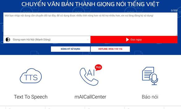 MobiFone Text To Speech Cloud: nền tảng cho giải pháp dịch vụ 4.0 - Ảnh 2.