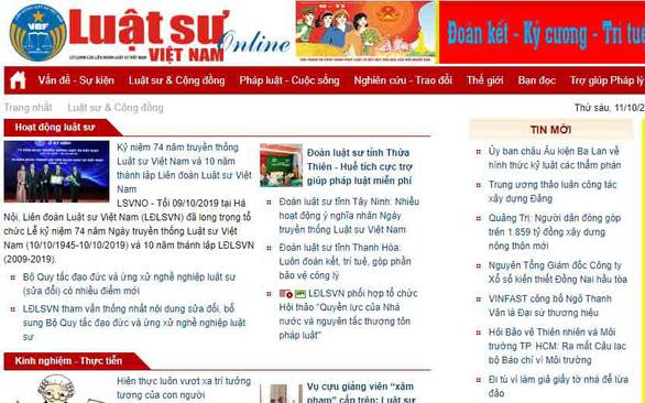 Tước giấy phép, phạt 50 triệu đồng tạp chí điện tử Luật Sư Việt Nam - Ảnh 1.
