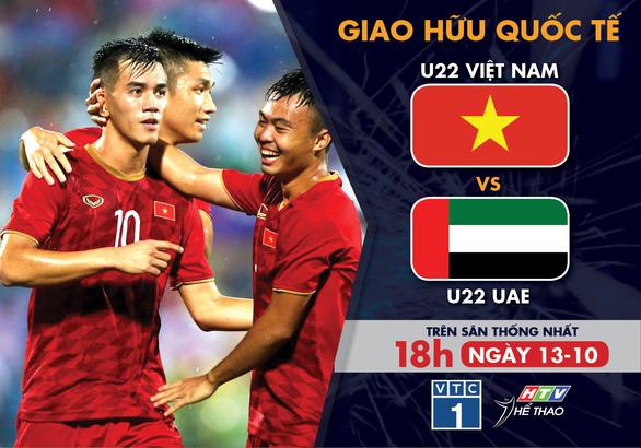 Lịch trực tiếp U22 Việt Nam - U22 UAE - Ảnh 1.