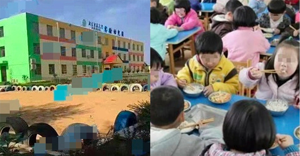 Phụ huynh phẫn nộ vì trường mầm non bắt trẻ ăn cơm trong toilet bốc mùi - Ảnh 1.