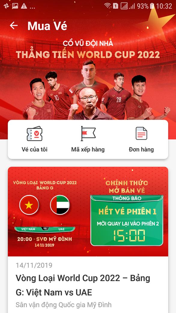Vé trận Việt Nam - UAE bán hết trong 'một nốt nhạc' - Ảnh 2.