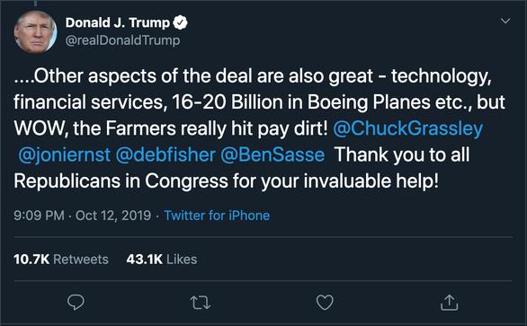 Ông Trump khoe Boeing kiếm đến 20 tỉ USD nhờ thỏa thuận Mỹ - Trung - Ảnh 2.