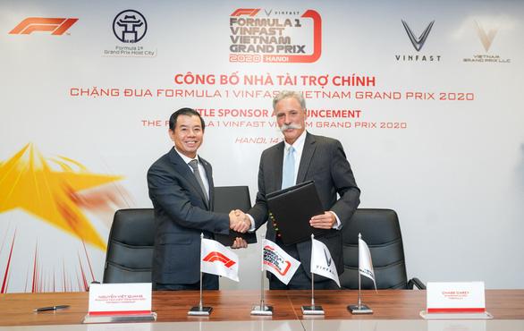 VinFast là nhà tài trợ chính của chặng đua F1 tại Việt Nam - Ảnh 1.